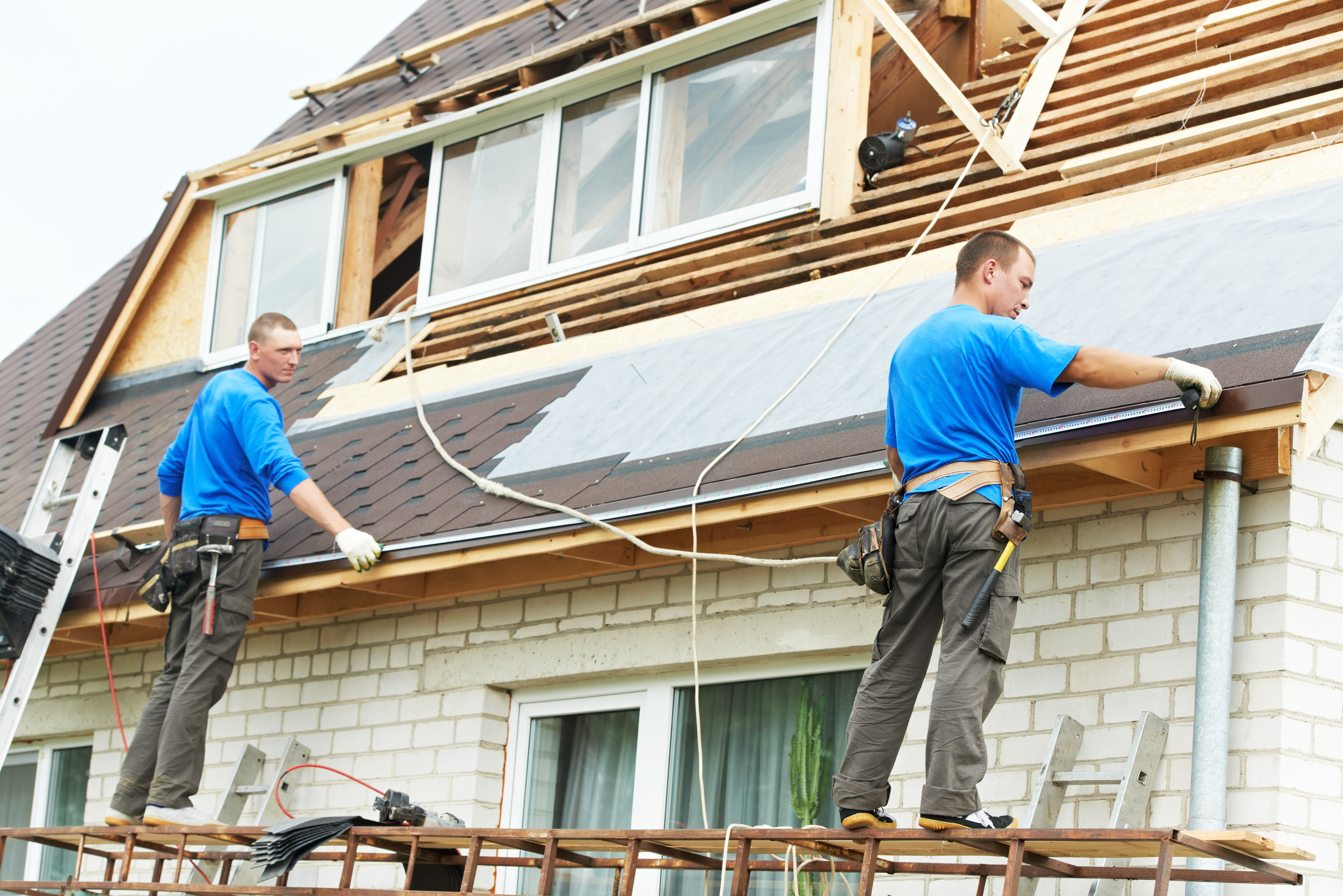 Re-roofing a house